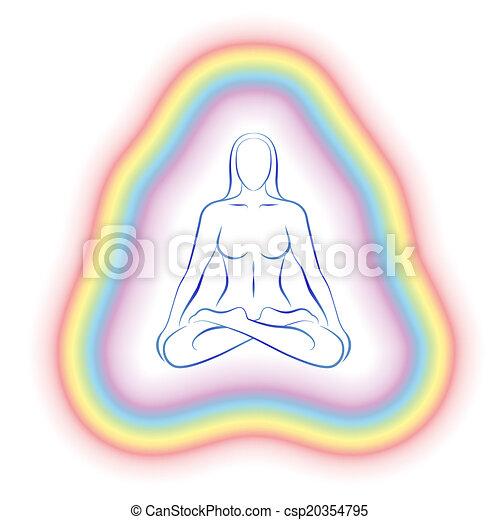 Aura Meditation Subtle Body Woman - csp20354795