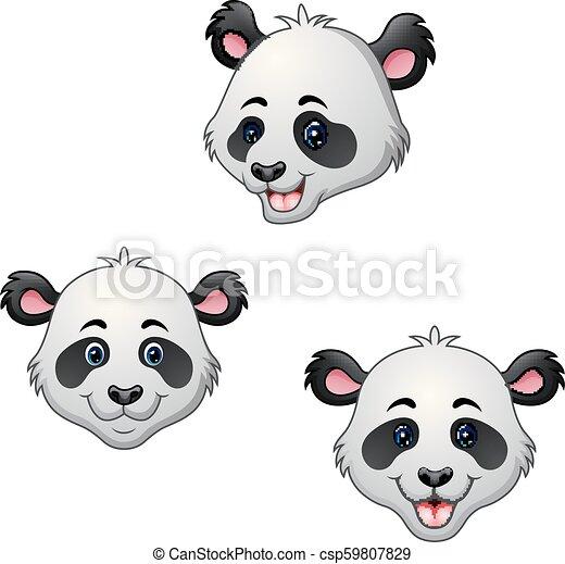 Cabeza de panda de dibujos animados - csp59807829