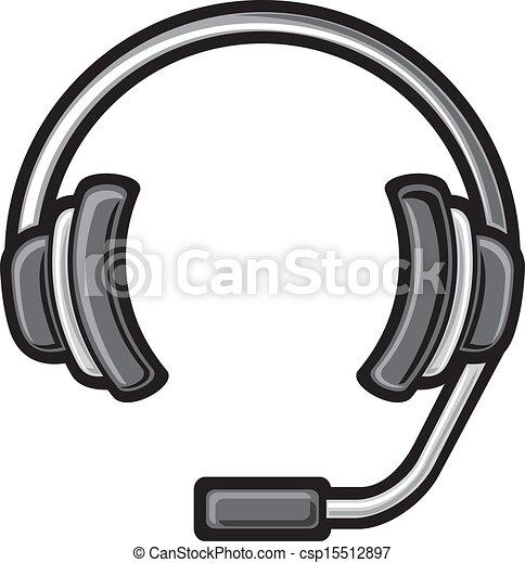 Llama a los auriculares del centro - csp15512897
