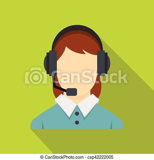 Llama al operador central con un icono de auriculares - csp42222005