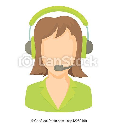 Llama al operador central con un icono de auriculares - csp42269499