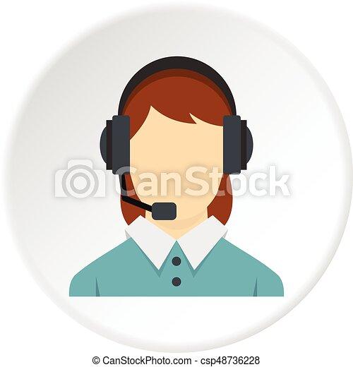 Llama al operador central con un icono de auriculares - csp48736228