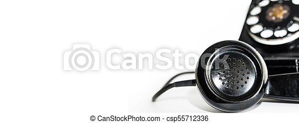 El viejo estandarte telefónico rotatorio - csp55712336