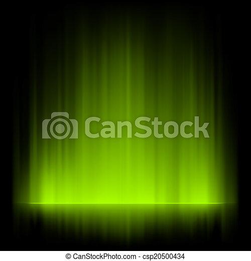 Aurora borealis background. EPS 8 - csp20500434