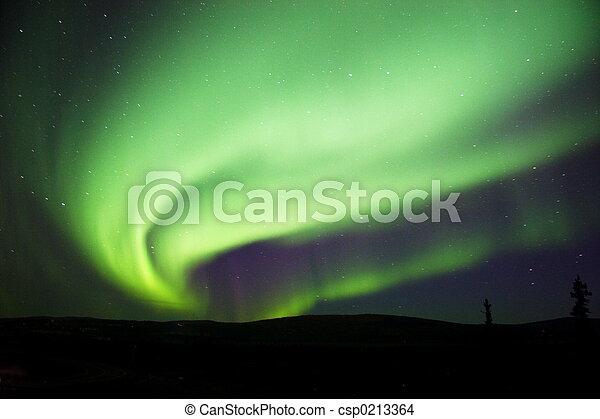 Aurora Borealis near - csp0213364