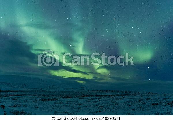 Aurora Borealis (Northern lights) - csp10290571
