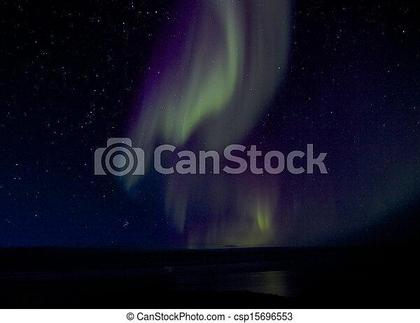 Aurora Borealis over Bay 1 - csp15696553