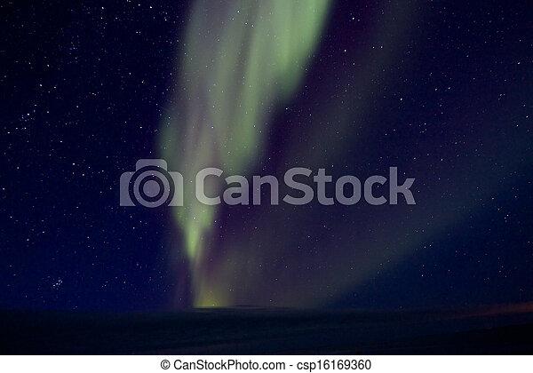Aurora Borealis over the Bay 010 - csp16169360