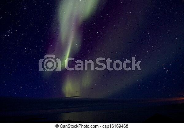 Aurora Borealis over the Bay 011 - csp16169468