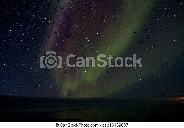 Aurora Borealis over the Bay 012 - csp16169687