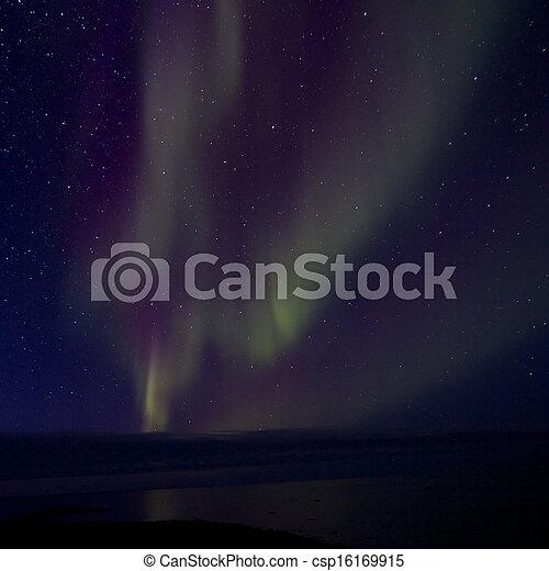 Aurora Borealis over the Bay 013 - csp16169915