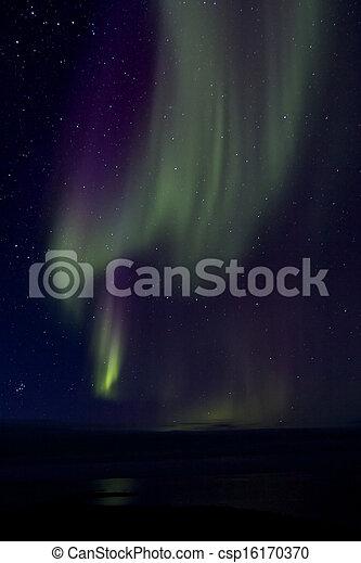 Aurora Borealis over the Bay 015 - csp16170370