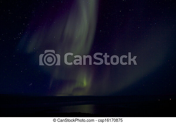 Aurora Borealis over the Bay 019 - csp16170875