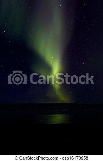 Aurora Borealis over the Bay 020 - csp16170958