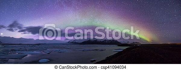 Aurora borealis Panorama - csp41094034
