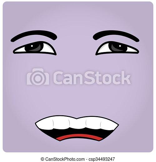 Gesichtsausdruck - csp34493247