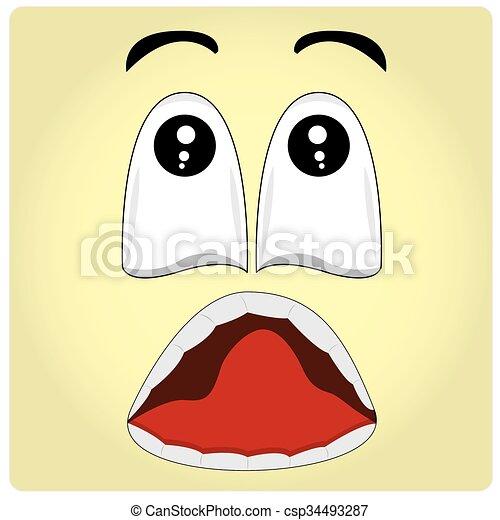 Gesichtsausdruck - csp34493287