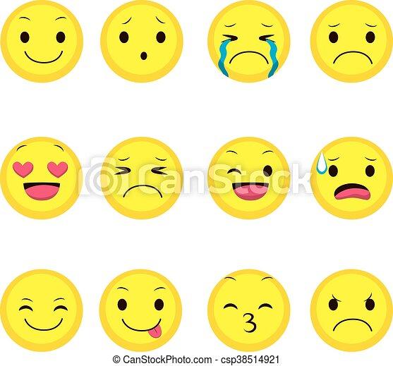 ausdruck, sammlung, emoji - csp38514921