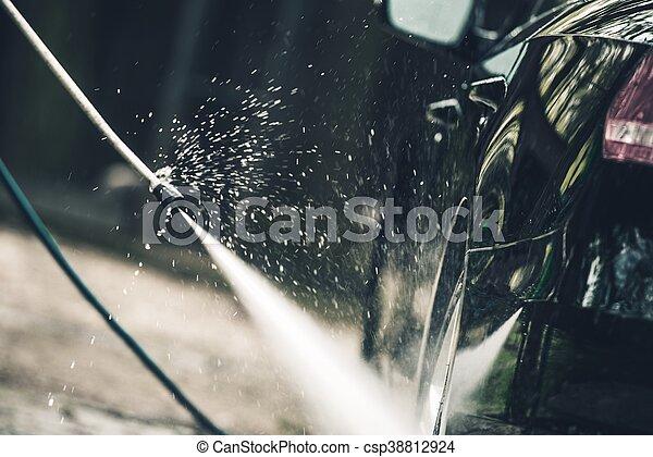 ausführlich, auto, wäsche - csp38812924