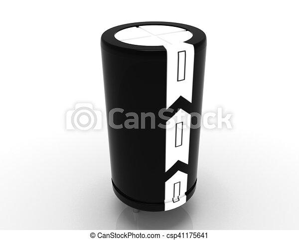 Ausführlich, electrolytic, kondensator, 3d Zeichnung - Suche Clipart ...