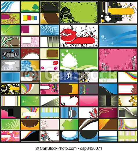 Verschiedene detaillierte Visitenkarten - csp3430071