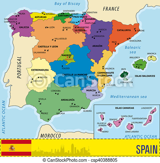 Karte Von Spanien Flughafen Karte Von Spanien Flughafen Europa