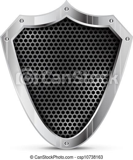 Vector detailliertes Metallschild - csp10738163