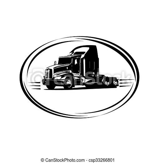 auslieferung, fracht lastwagen - csp33266801