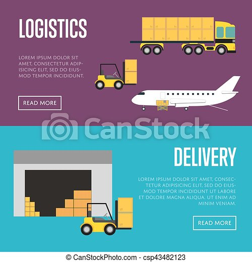 Liefer- und Logistik Bannerset - csp43482123