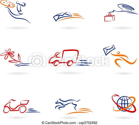 auslieferung, logos, heiligenbilder - csp3702492