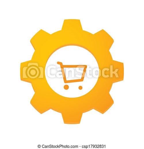 Gear mit einer Ikone - csp17932831