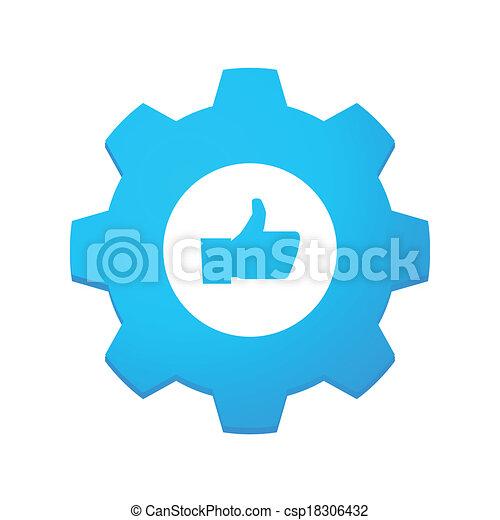 Gear mit Ikone - csp18306432