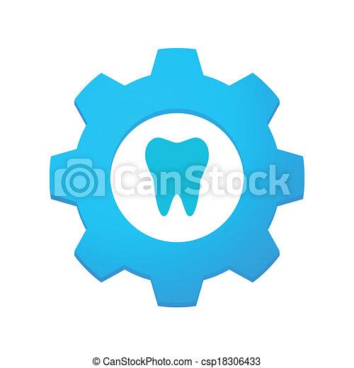 Gear mit Ikone - csp18306433