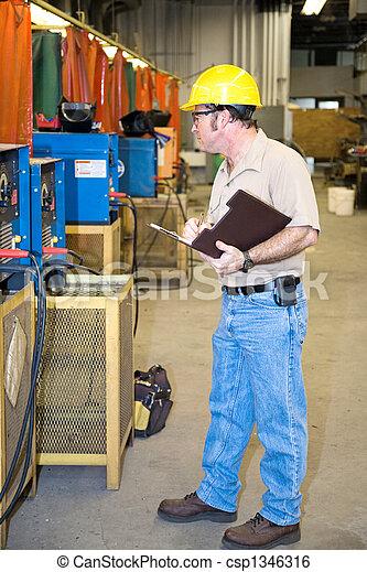 ausrüstung, sicherheit, kontrollieren, schwei�arbeiten - csp1346316