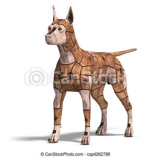 Hund In 3d Ansehen