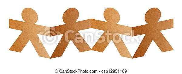 ausschnitt, hintergrund, freigestellt, vier, papier, menschliche , pfad, weißes - csp12951189