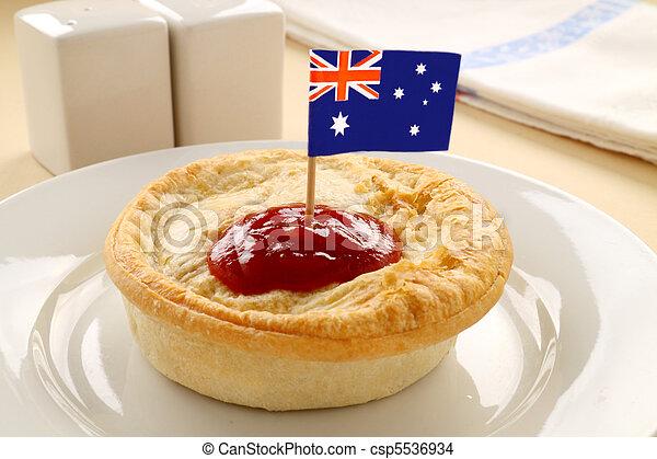 Aussie Meat Pie - csp5536934