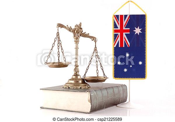 australiër, wet, order - csp21225589