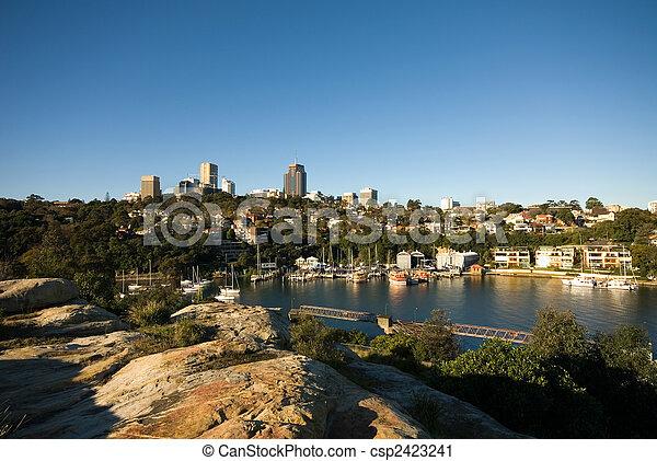 Berrys Bay, Sydney Harbor, Australia - csp2423241
