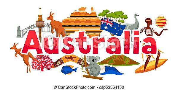 australia banner design australian traditional symbols and rh canstockphoto com australian clipart australian clip art images