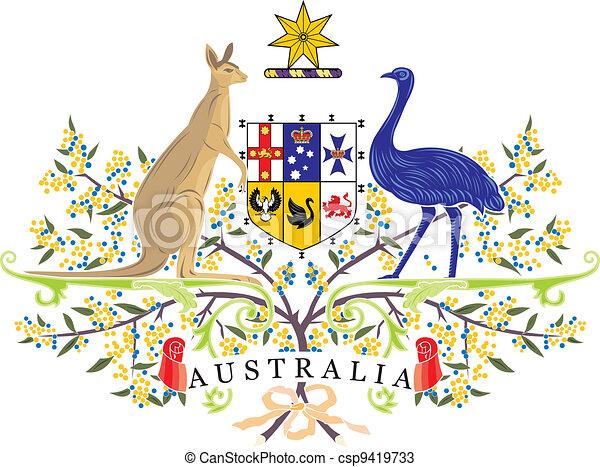Australia Coa Various Vector Flags State Symbols Emblems Of