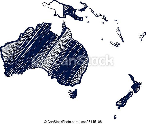Australia continent - csp26145108