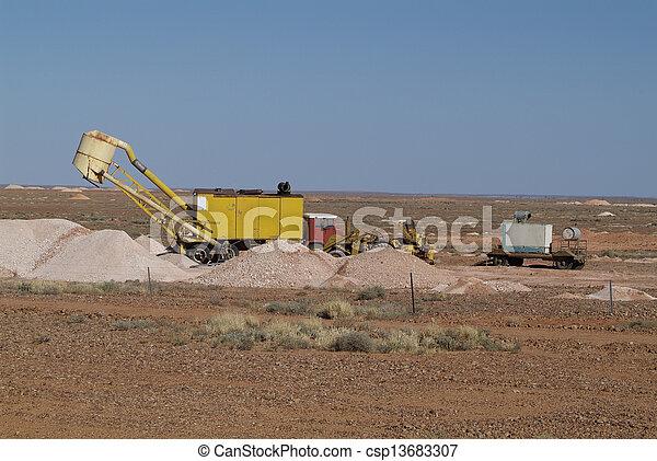 australia, coober pedy - csp13683307