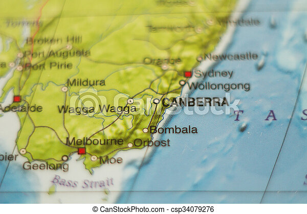 Country Map Of Australia.Australia Country Map
