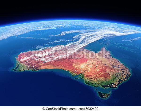 Australia vista desde el espacio - día de la Tierra - csp18032400