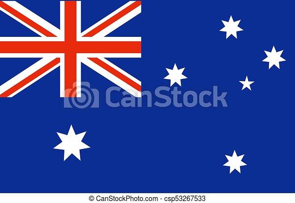 australia flag national australian flag vector illustration