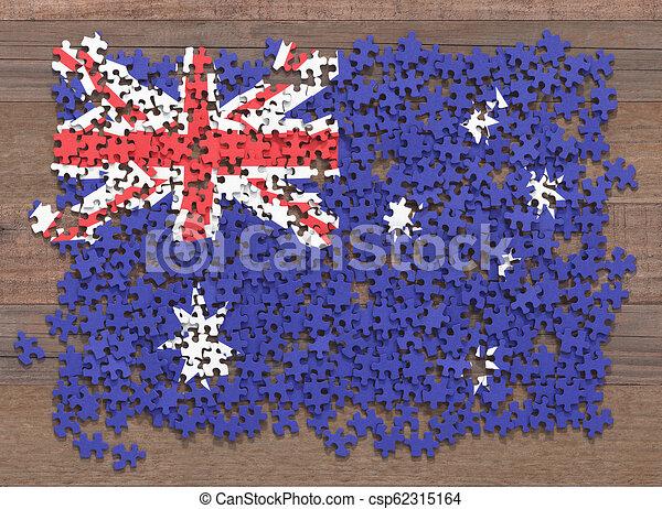 Australia Flag Puzzle - csp62315164