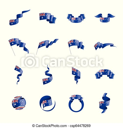 Australia flag, vector illustration on a white background. - csp64478269