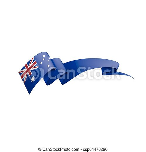 Australia flag, vector illustration on a white background. - csp64478296