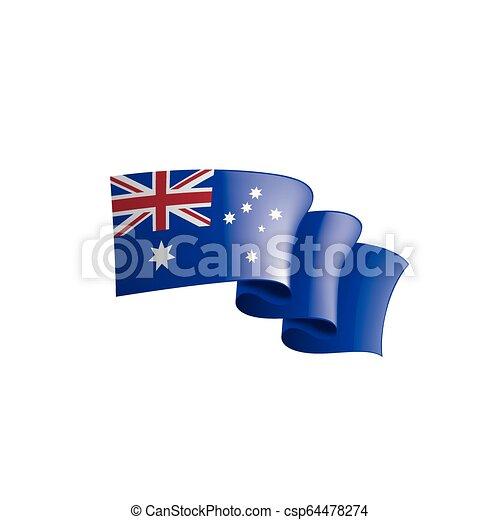 Australia flag, vector illustration on a white background. - csp64478274